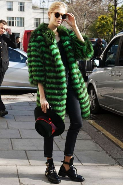 Picture Of Colored Fur Coats For Fall And Winter 10