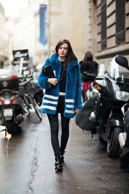 Picture Of Colored Fur Coats For Fall And Winter 11