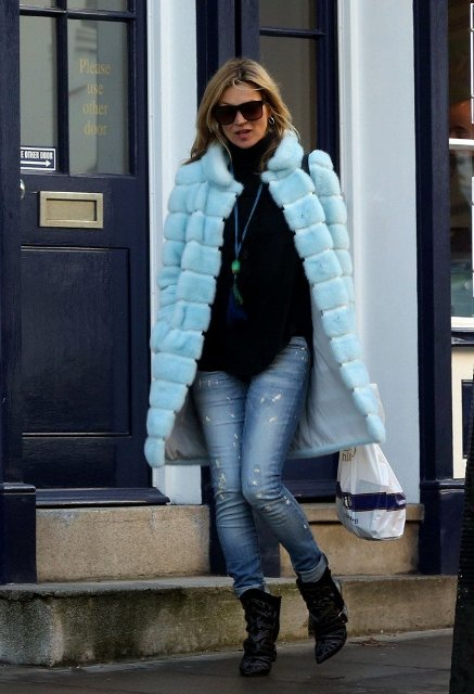 Picture Of Colored Fur Coats For Fall And Winter 13