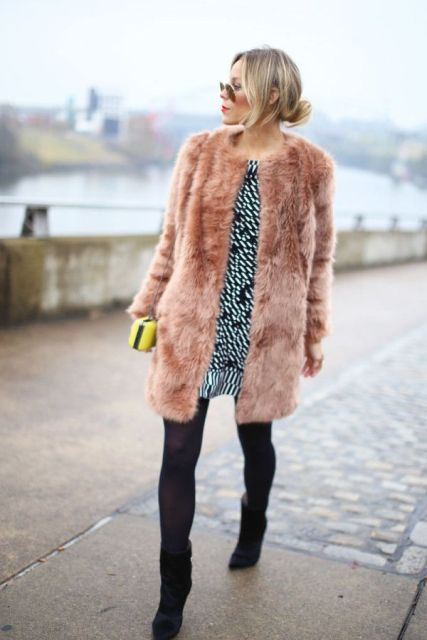 Picture Of Colored Fur Coats For Fall And Winter 15