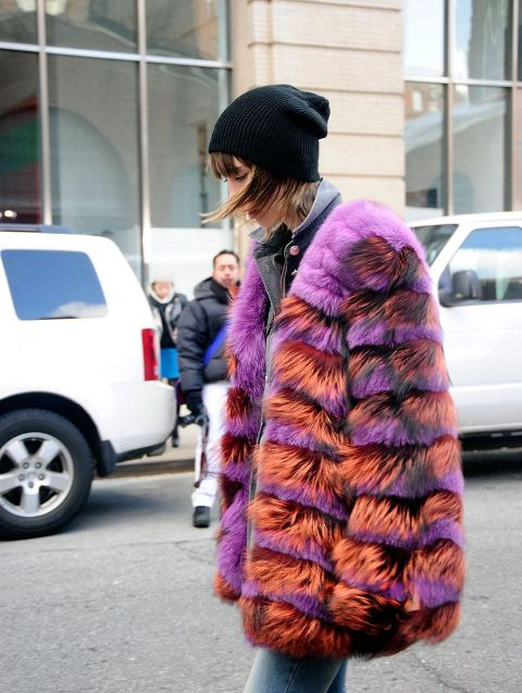 Picture Of Colored Fur Coats For Fall And Winter 2