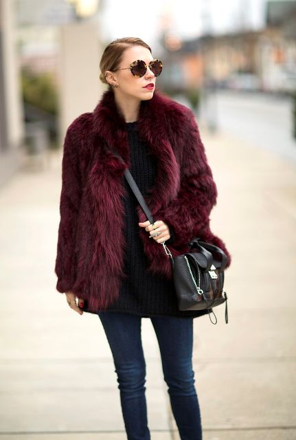 Picture Of Colored Fur Coats For Fall And Winter 7