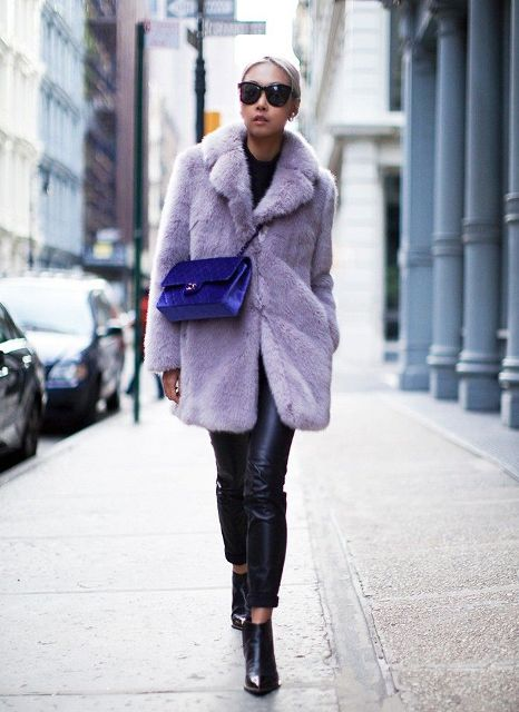 Colored Fur Coats For Fall And Winter