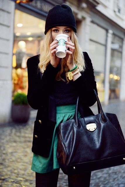 Picture Of Gorgeous Office Looks In Emerald Shades 13
