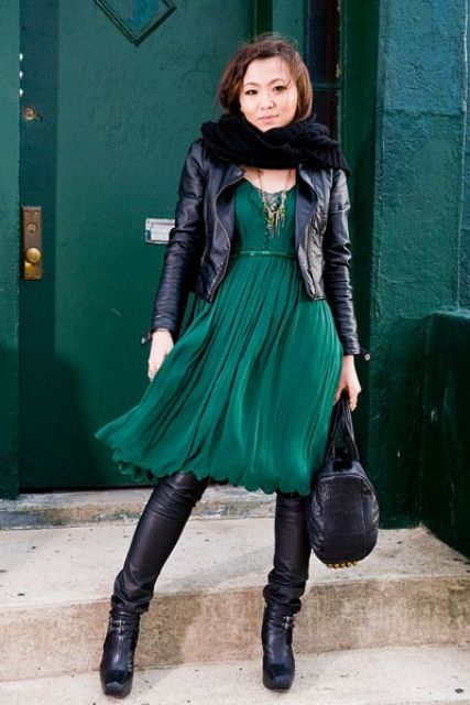 Picture Of Gorgeous Office Looks In Emerald Shades 6