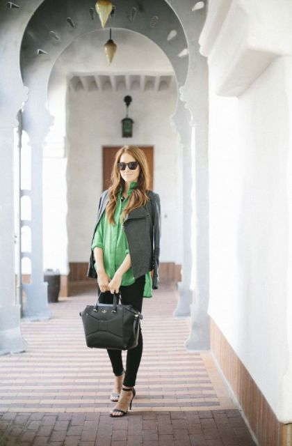 Picture Of Gorgeous Office Looks In Emerald Shades 8