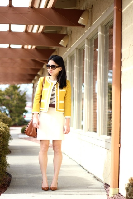Picture Of Perfect Office Looks In Lemon Shades 8