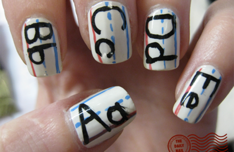 Picture Of back to school nail art ideas to cheer you up  1