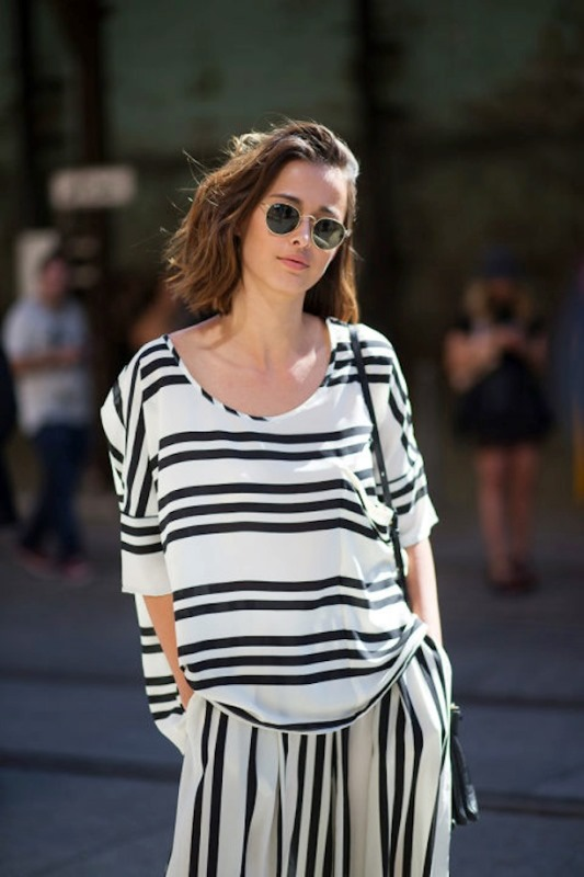Picture Of cool ways to rock stripes on stripes trend now  1