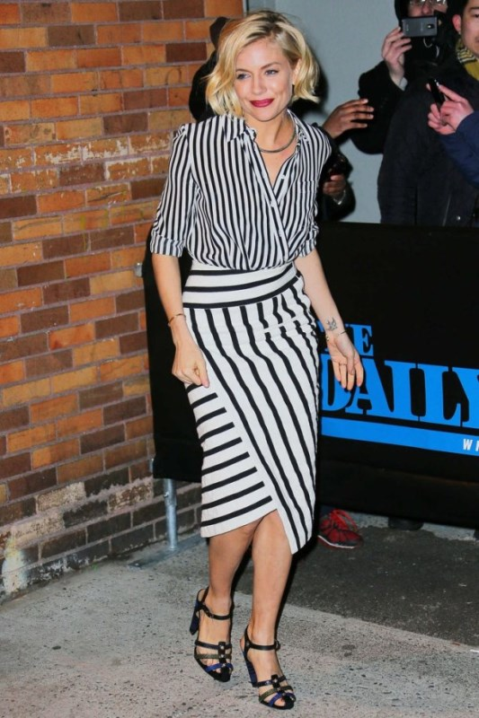 Picture Of cool ways to rock stripes on stripes trend now  11