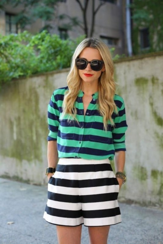 Picture Of cool ways to rock stripes on stripes trend now  12