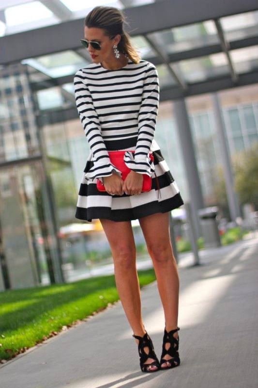 Picture Of cool ways to rock stripes on stripes trend now  16