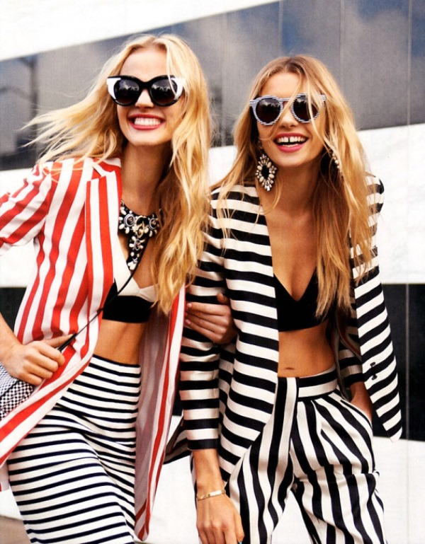 Picture Of cool ways to rock stripes on stripes trend now  17