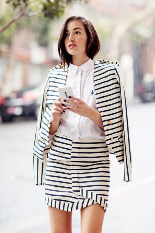 Picture Of cool ways to rock stripes on stripes trend now  2