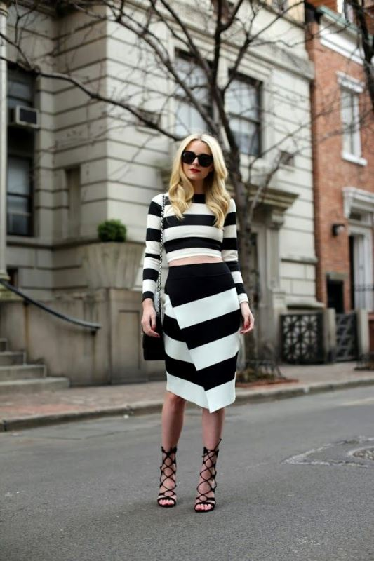 Picture Of cool ways to rock stripes on stripes trend now  5