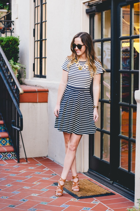Picture Of cool ways to rock stripes on stripes trend now  6