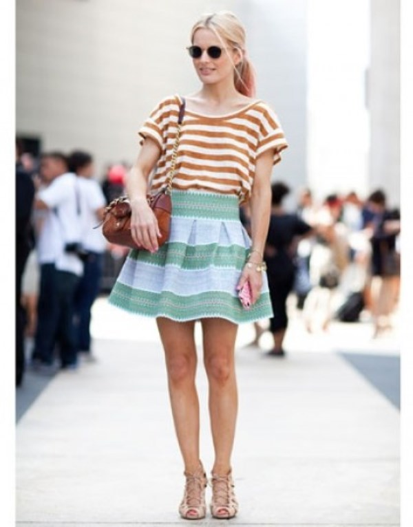 Picture Of cool ways to rock stripes on stripes trend now  8