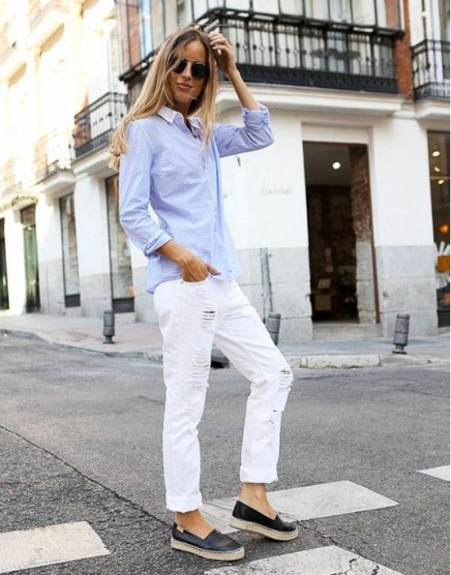 Crisp Shirt And Boyfriend's Jeans Combo Ideas