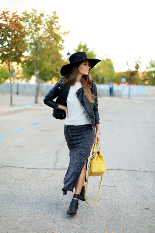Picture Of fabulous ways to wear full and sassy maxi skirts this fall  9