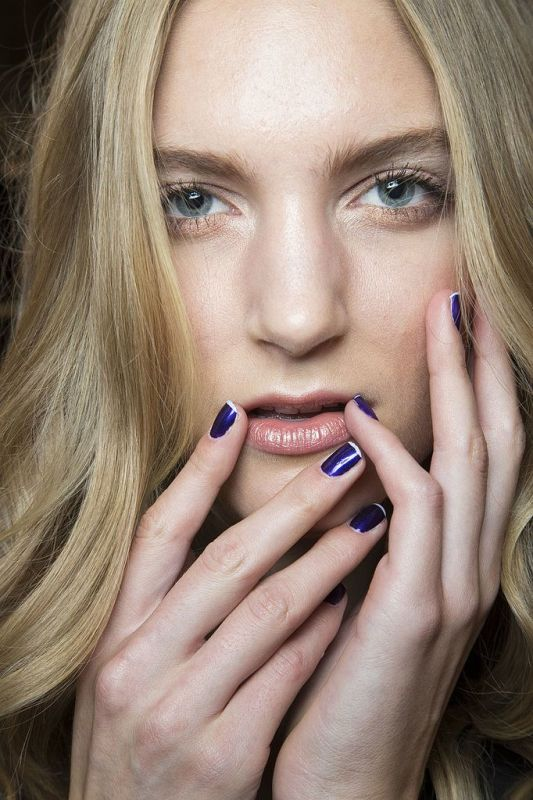 Picture Of ways to spice up your casual french manicure  1