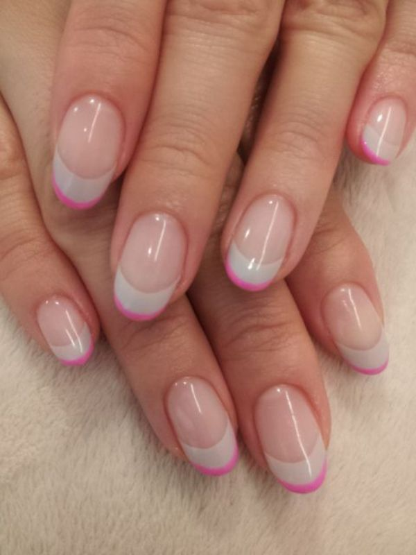 Picture Of ways to spice up your casual french manicure  12