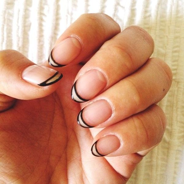 Picture Of ways to spice up your casual french manicure  14