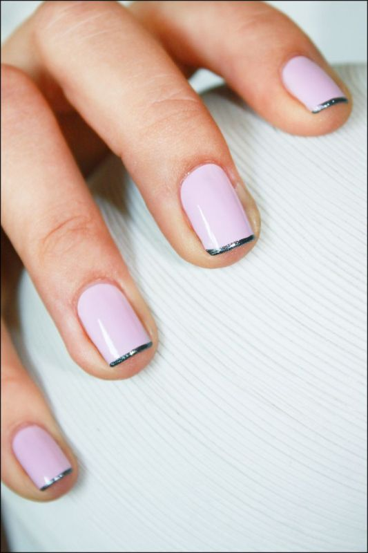 Picture Of ways to spice up your casual french manicure  2