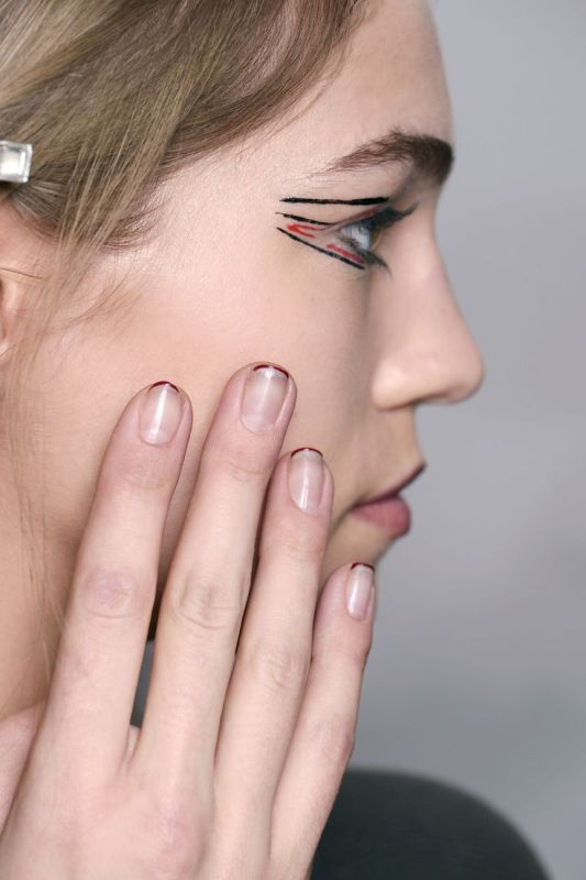 Picture Of ways to spice up your casual french manicure  7