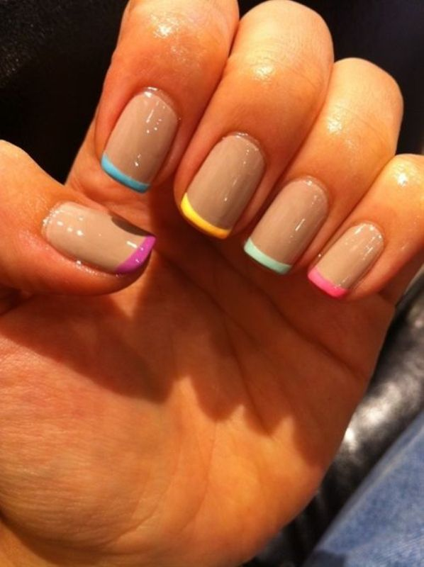 Picture Of ways to spice up your casual french manicure  8