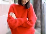 18 Comfy Fall Outfit Ideas With A Fuzzy Sweater4