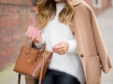 18 Comfy Fall Outfit Ideas With A Fuzzy Sweater9