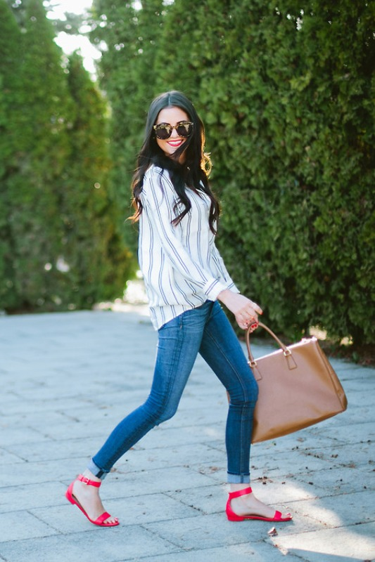 Picture Of fresh ways to style your basic skinny jeans  5