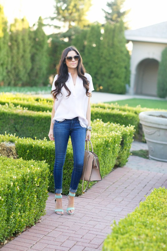 Picture Of fresh ways to style your basic skinny jeans  9