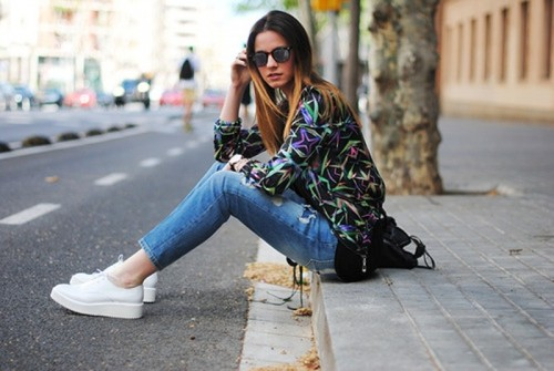 Perfect Looks With Platform Sneakers To Get Inspired