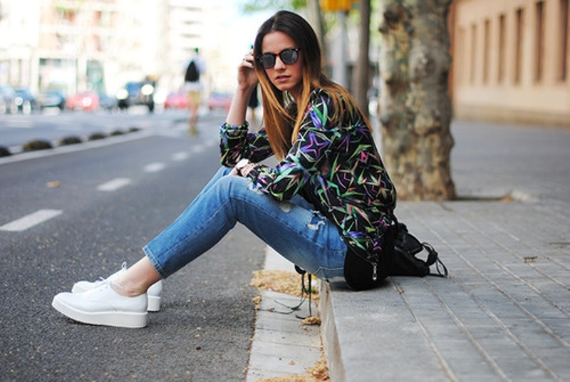 Picture Of perfect looks with platform sneakers to get inspired  18