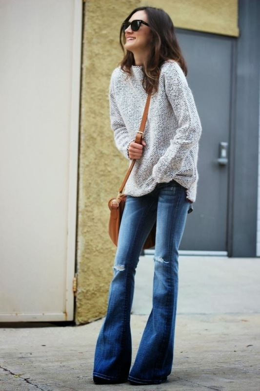 Picture Of stylish ways to wear flared jeans  12