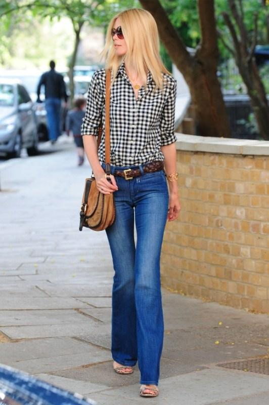 Picture Of stylish ways to wear flared jeans  2