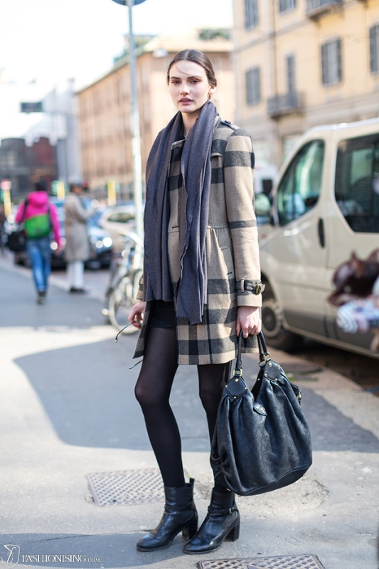 Picture Of trendy plaid coat looks to recreate now  11