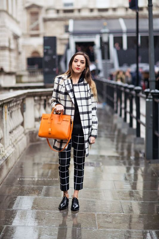 Picture Of trendy plaid coat looks to recreate now  15