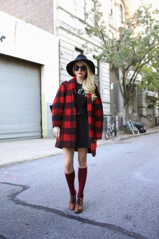 Picture Of trendy plaid coat looks to recreate now  2