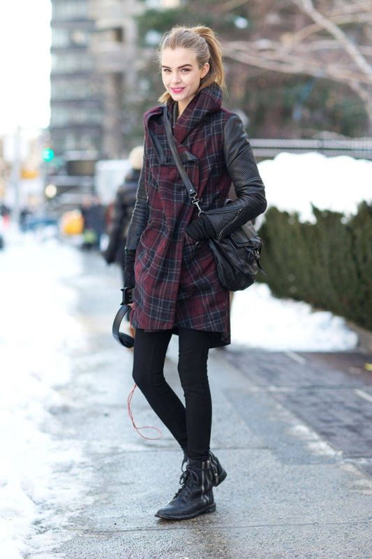 Picture Of trendy plaid coat looks to recreate now  4