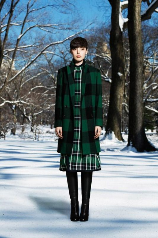 Picture Of trendy plaid coat looks to recreate now  5