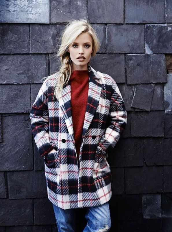 Picture Of trendy plaid coat looks to recreate now  8