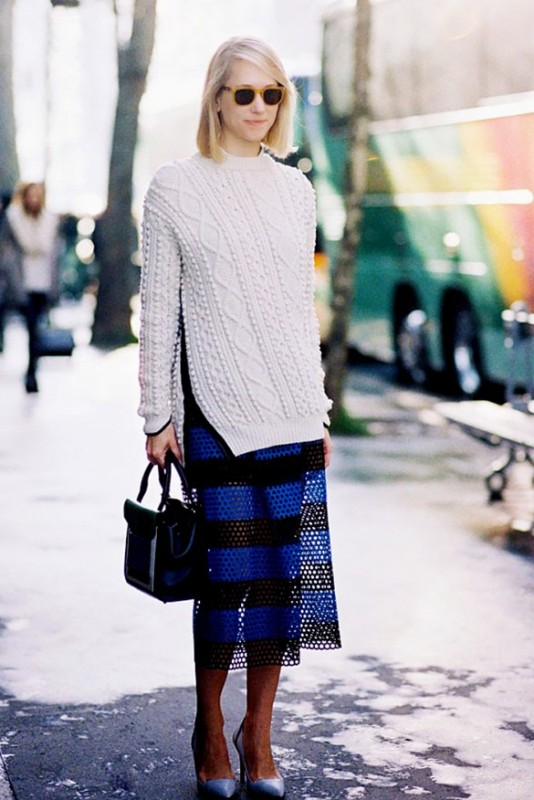 Picture Of beautiful sweater and skirt combinations for fall  1