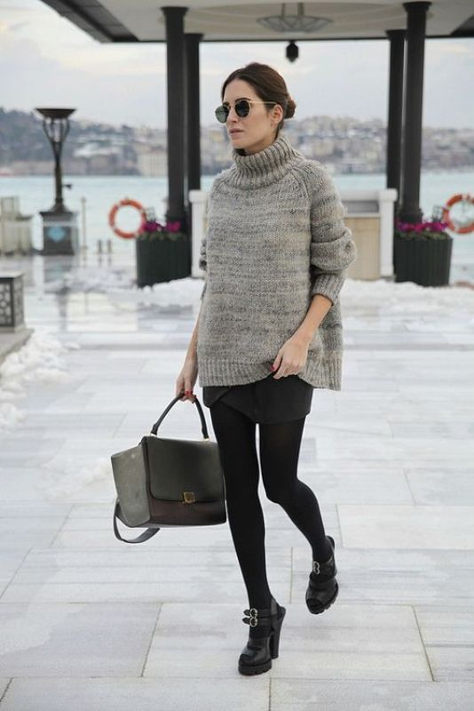 Picture Of beautiful sweater and skirt combinations for fall  17