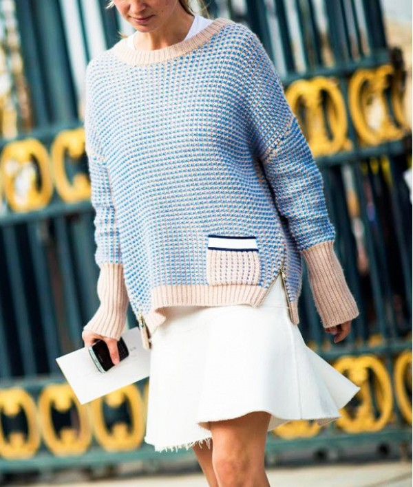 Picture Of beautiful sweater and skirt combinations for fall  19