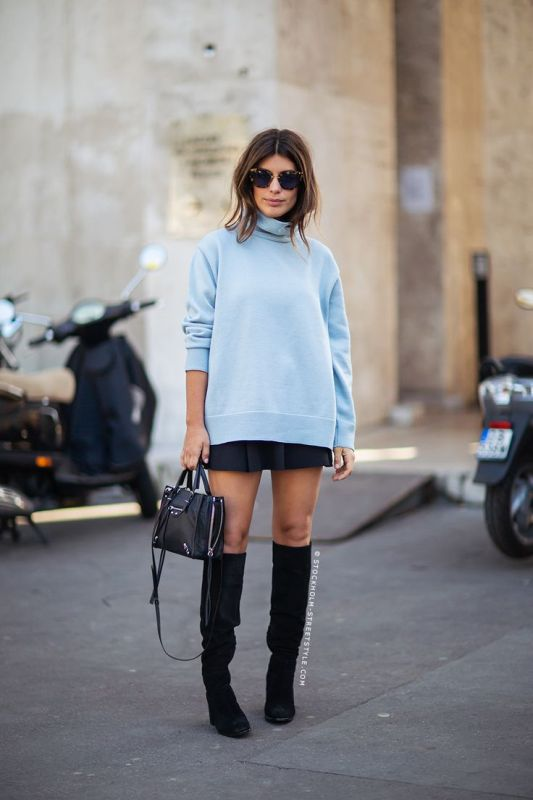 Picture Of beautiful sweater and skirt combinations for fall  3