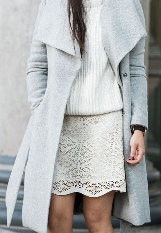 Picture Of beautiful sweater and skirt combinations for fall  9