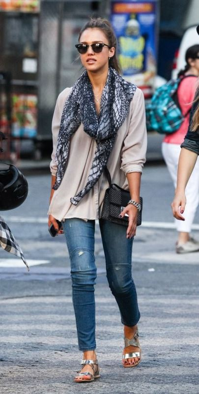 Picture Of cool ideas to wear a scarf stylishly this spring  10