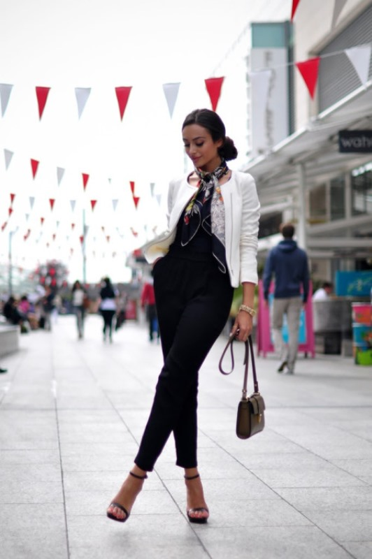 Picture Of cool ideas to wear a scarf stylishly this spring  11
